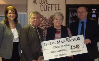 MannVend staff raise money for worthy local charity Care In Mann