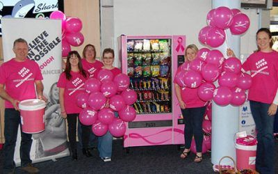We launch Pinkie, our dedicated machine for raising money for breast cancer.