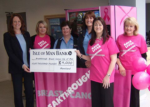 MannVend donates £4000 to Breakthrough Breast Cancer IOM