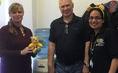 MannVend supports the Children in Need call centre with a refreshing water cooler