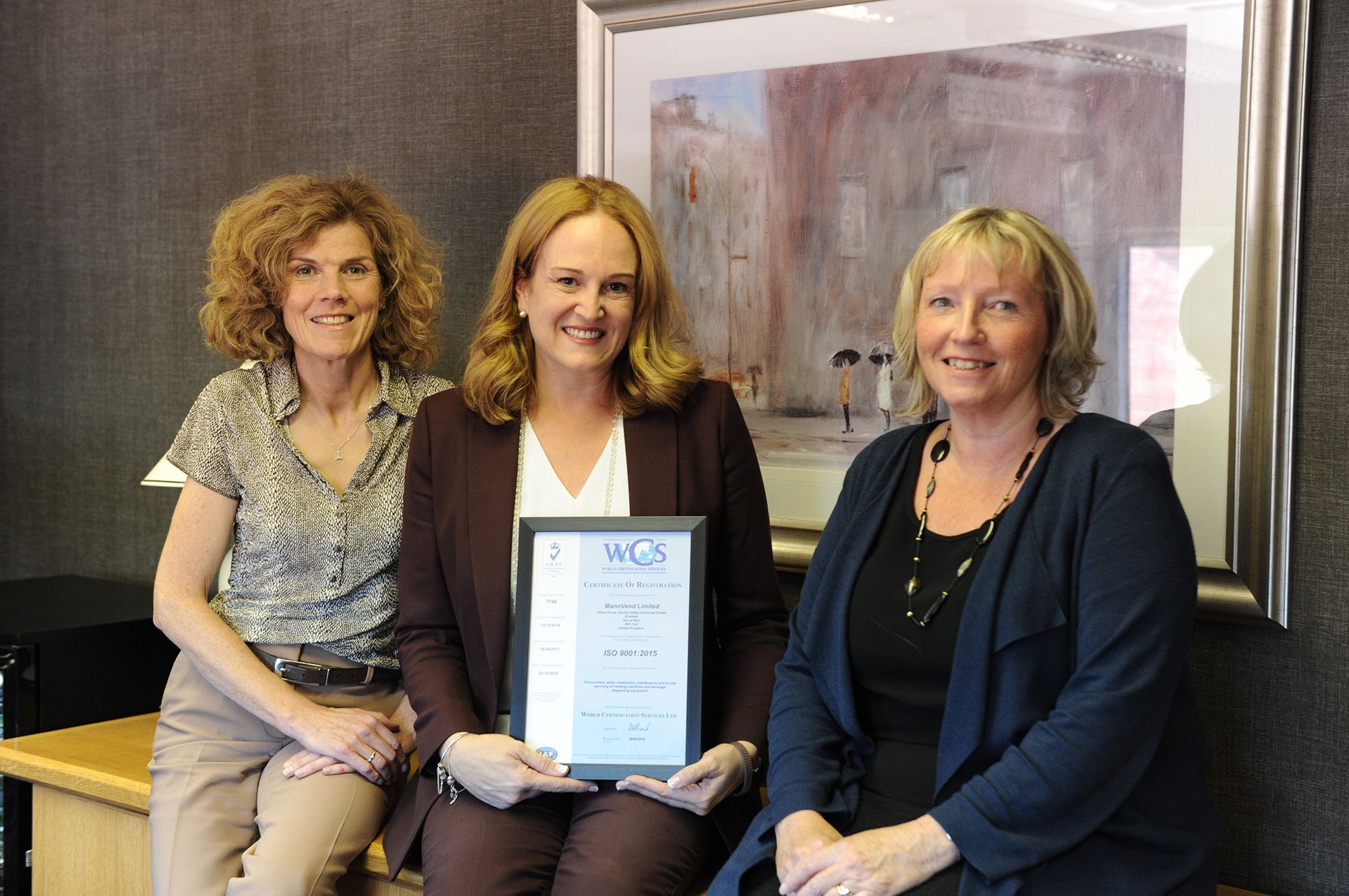 Christine, Tracey and Jo with the latest ISO Certification