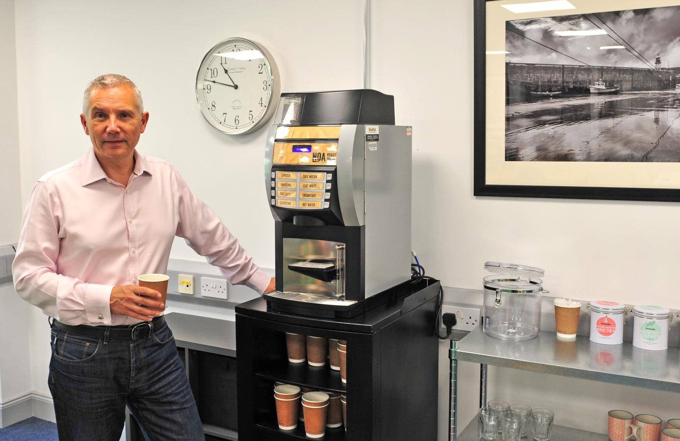 PHOTO: David Butterworth, Founder and CEO of Manninvest, at the company's offices at Skanco Court, Cooil Road, Douglas.